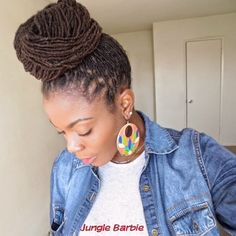 Loc Hair Style | High Bun with Locs | Loc Styles | Loc Updo | Dreadlocks