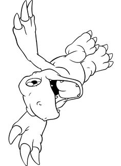 Free Digimon Coloring Page Pages 198 Printable