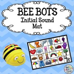 This product is designed to be used with a programmable BEE BOT robot.  The product includes 26 initial sound pictures that should be cut out and made into a BEE BOT mat. There are 26 matching picture cards and 26 letter cards. Students will pick a card and then program the Bee-Bot to go to matching picture on the mat.