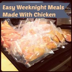 Here are some easy weeknight meals you can pull off made with chicken!