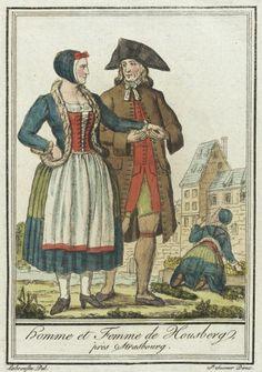 Costumes de Différent Pays, 'Homme et Femme de Housberg, près Strasbourg' Jacques Grasset de Saint-Sauveur (France, 1757-1810) Labrousse (France, Bordeaux, active late 18th century) France, circa 1797