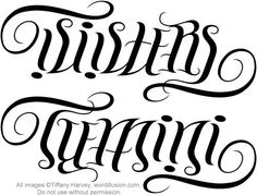 """Sisters"" & ""Gemini"" Ambigram, via Flickr."