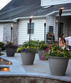 Brighten up your boring patio with these DIY patio ideas. From patio furniture to patio flooring ideas, there's a project for every inch of your patio. Backyard Lighting, Deck Lighting, Lighting Design, Ceiling Lighting, Landscape Lighting, Lights For Patio, Patio Lighting Ideas Diy, Patio String Lights, Pendant Lighting