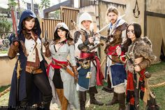Arno Dorian, Assassin, Edward Kenways, and Connor Kenway cosplay | San Diego Comic-Con 2014 #dtjaaaam