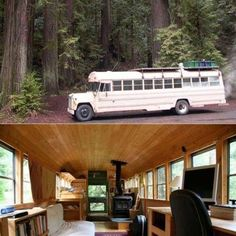 Remodeled school bus makes a nice camper or bug out vehicle