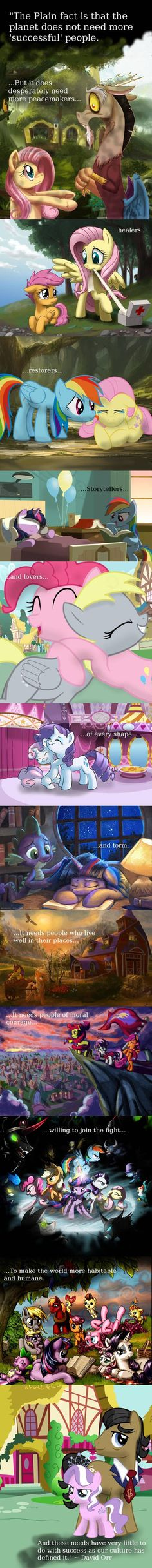 Inspiring quote told in My Little Pony fanart - via reddit - yes i know it's my little pony but this is actually cool