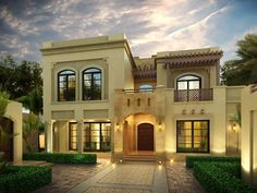 Launched in the Bayti initiative has reduced the time it takes Emiratis to design and approve a house from three months to just three weeks. Dream Home Design, House Design, Arabic Design, Grand Hotel, Abu Dhabi, Home Projects, Luxury Homes, Construction, Traditional