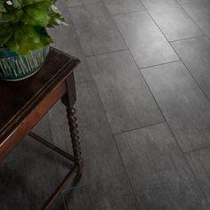 Grey Kitchen Tiles, Dark Grey Kitchen, Grey Bathroom Tiles, Grey Slate Tile, Grey Floor Tiles, Black Floor, Stone Tile Flooring, Grey Flooring, Floors