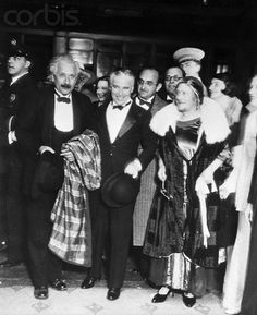 Albert Einstein (left) and Charlie Chaplin (center)