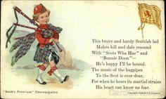 Scottish Lad Scottish Poems, Scottish Sayings, Vintage Cards, Vintage Postcards, Woman Quotes, Family History, Swift, Brave, Advertising
