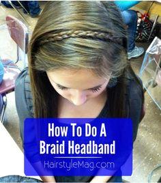 How To Do A Braid Headband