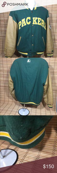 Vintage Packers Starter L Large starter button up. Green Bay Packers Leather Letterman STARTER Jackets & Coats Bomber & Varsity