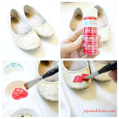 DIY Painting Shoes | A cute way of beatifying your shoes to make fashionable and look new. See this shared simple, easy and quick tutorial.
