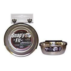 MidWest 10 oz. Stainless Steel Snapy Fit Water and Feed Bowl - 40-10-1P