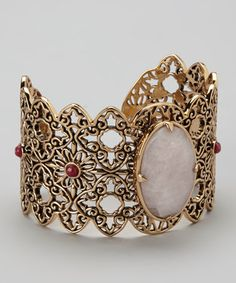 Take a look at this Pink Quartz Cuff by Barse on #zulily today!