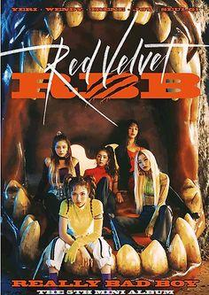 'Red Velvet - Really Bad Boy ( The Mini Album)' Photographic Print by Monteschizo - Linda Shaw Smile Wallpaper, Rose Wallpaper, Red Velvet, Wallpaper Iphone Disney, Adventure Quotes, Album, Photo Cards, Bad Boys, Booklet
