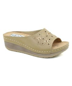 Love this Taupe Flower Eyelet Sandal on Sperrys, Girls Shoes, Wedge Sandals, Boat Shoes, Taupe, Studs, Slippers, Wedges, Flats