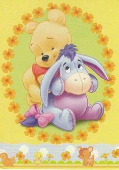 Baby Eeyore and Pooh