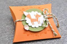 "Pillow Box mit dem Fuchs aus dem Stempelset ""Thankful Forest Friends"""