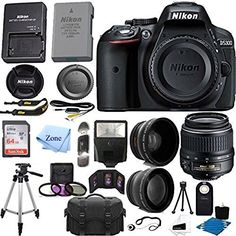 Nikon AF-S DX NIKKOR 18-55mm f//3.5-5.6G VR II Lens 16GB SD Card XPIX Lens Accessories Platinum Accessory Bundle W// 52mm Wide-Angle /& Telephoto Lens Variety of Filters Lens Pouch
