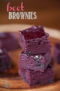 Brownie Recipes 501799583473236963 - Beet Brownies are made with my decadent brown butter brownie recipe and have a buttermilk beet puree mixed in to yield a lusciously soft red velvet brownie. Brownies Recipe No Butter, Brownie Recipe Video, Brownie Recipes, Beet Recipes Healthy, Beetroot Recipes, Fun Recipes, Delicious Recipes, Cake Recipes, Cooking Recipes