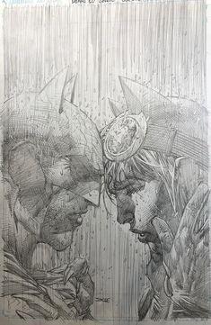 Batman Jim Lee Pencils Only Sketch Variant Catwoman Wedding DC Comics Batman Et Catwoman, Catwoman Cosplay, Batman Art, Batgirl, Comic Book Artists, Comic Artist, Comic Books Art, Comic Drawing, Cartoon Drawings