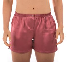 Women`s Silk Boxer Shorts Underwear Sleepwear (La Dolce Vita); A Beautiful Romantic Christmas Gift of Comfort and Luxury $19.99