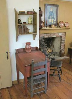 Have similar primitive desk & shelf...