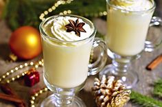 Take your holiday cooking up a notch: 15 recipes to make with eggnog Marzipan, Merry Christmas To All, Christmas Gifts, Mets, C'est Bon, Holiday Fun, Smoothie, Food To Make, Panna Cotta