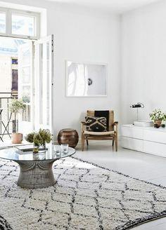wohnzimmer skandinavisch einrichten teppich