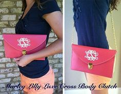 Monogrammed Luxe Cross Body Clutch - This website will monogram just about anything.