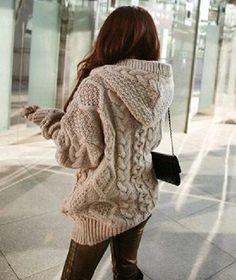 Loose Knit Cardigan Sweater Jacket VG08