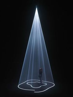 "New York-based, British artist Anthony McCall practices in the fields of film, installation, sculpture and drawing.  ""Solid Light Films and Other Works"" was the name of his first solo show which just ended at the EYE Film Institute ."