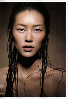 Liu Wen | Water Shoot|  Photography | Naked face | Natural beauty #nakedface