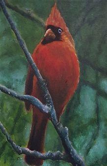 Cardinal<br />Acrylic on Canvas, Paintings