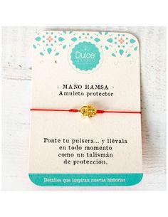 a9837550f1c9 Accesorios para mujer - Pulsera hilo ajustable elaborada con mano hamsa  dorada maciza. Regalos para