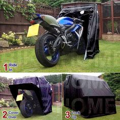 Motorbike Bike Cover Shed Folding Storage Garage Barn Motorcycle Scooter Sports in Vehicle Parts & Accessories, Clothing, Helmets & Protection, Other Clothing & Protection Motorbike Shed, Motorbike Cover, Motorbike Storage, Motorcycle Memes, Chopper Motorcycle, Bobber Motorcycle, Motorcycle Garage, Bike Shelter, Motorbike Accessories