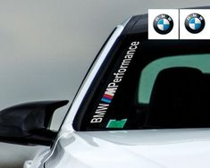 2x BMW M Wing Mirror Decals M Badge Logo German Etched Glass Car Stickers