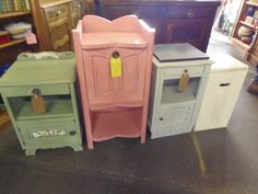 Pink/Green/White little cupboards all now SOLD  THANKYOU    Dorchester Curiosity centre Grove Trading Estate Dorchester DT 1 1ST 01305251886