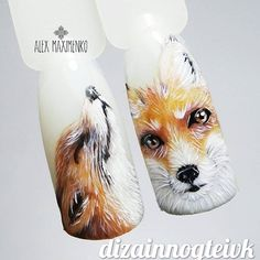 #naildesign #nailart #foxnailart #animalnail
