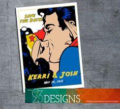 Superman U0026 Wonder Woman Superhero Save The Date Invitation. Hey, I Found  This Really