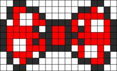 Minnie Mouse Bow perler bead pattern