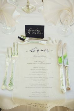 #calligraphy #menus Photography by closertolovephotography.com