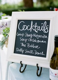 chalkboards throughout the reception