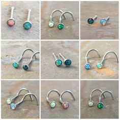 Your place to buy and sell all things handmade - Fire Opal Nose Bone or Corkscrew Nose Piercing by MidnightsMojo - Nose Piercing Ring, Nose Ring Stud, Body Piercings, Piercing Tattoo, Belly Rings, Belly Button Rings, Nipple Rings, Nose Bones, Nose Jewelry