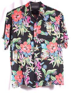 Reyn Spooner Size XXL Hawaiian Loud Shirt Bright Floral Print Tropical Hibiscus #ReynSpooner #Hawaiian