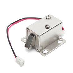 12V 0.34A Cerradura electrónica Bloqueo eléctrico Solenoide de montaje para puerta Cajón de puerta