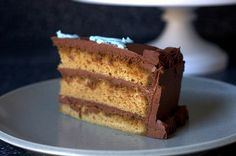 espresso layer cake, fudge frosting by smitten, via Flickr