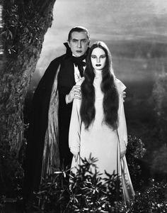 "Bela Lugosi and Carol Borland in ""Mark of the Vampire"" 1935"