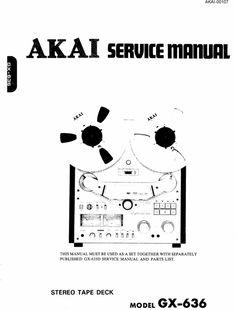 Akai GX-225-D reel to reel tape recorder Service Manual
